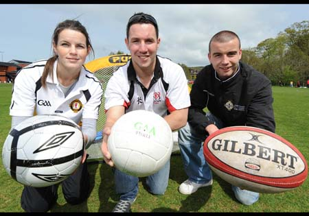 Trainers at the Game of 3 Halves launch. Photo by Press Eye, courtesy of Ulster Rugby.