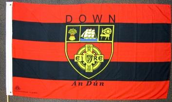 GAA flag of Co. Down. (c) Gordon GILLESPIE
