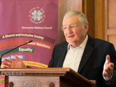 Rev. Harold GOOD. David Stevens Memorial Lecture and Presentation of CRC Award for Exceptional Achievement, Parliament Buildings, Belfast, Northern Ireland. @NI_CRC #CRWeek15