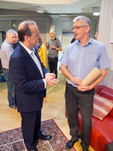 Tony MACAULAY and Geoff HILL (Journalist).